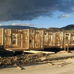 Construction Of A Timber Frame House In Lania